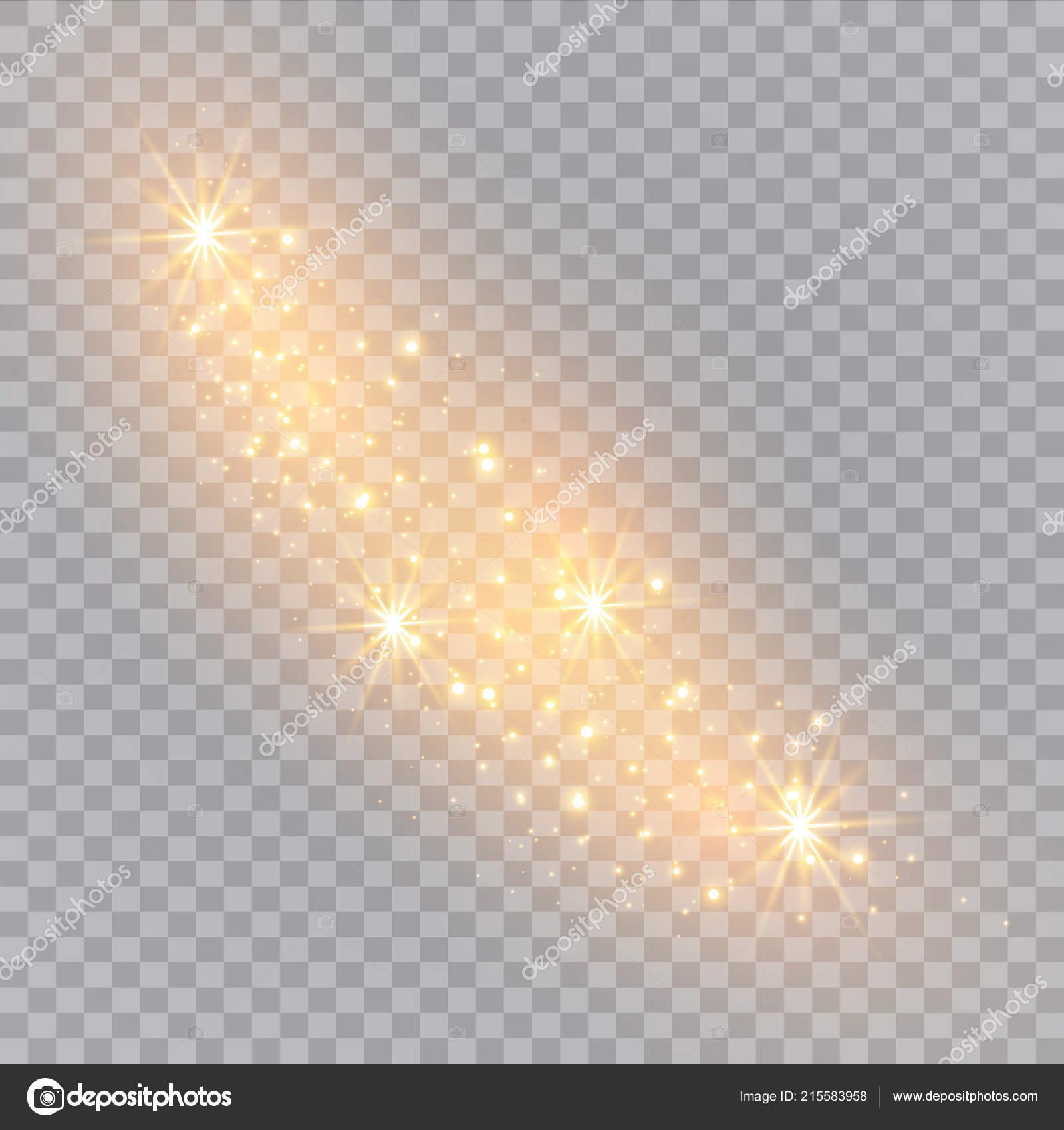 White Sparks Glitter Special Light Effect Vector Sparkles