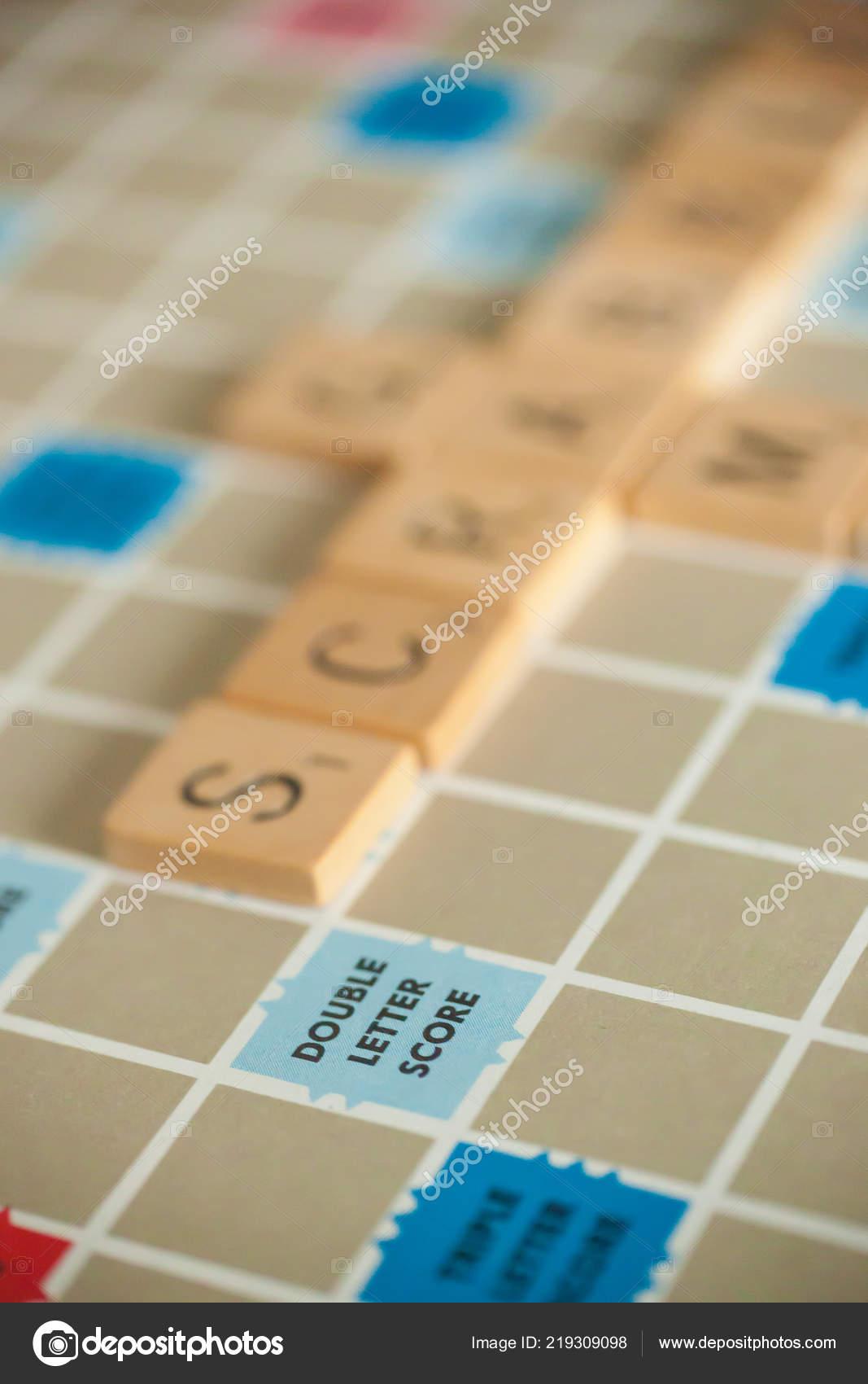 Woodbridge New Jersey Octubre 2018 Una Anada Scrabble Juego Mesa