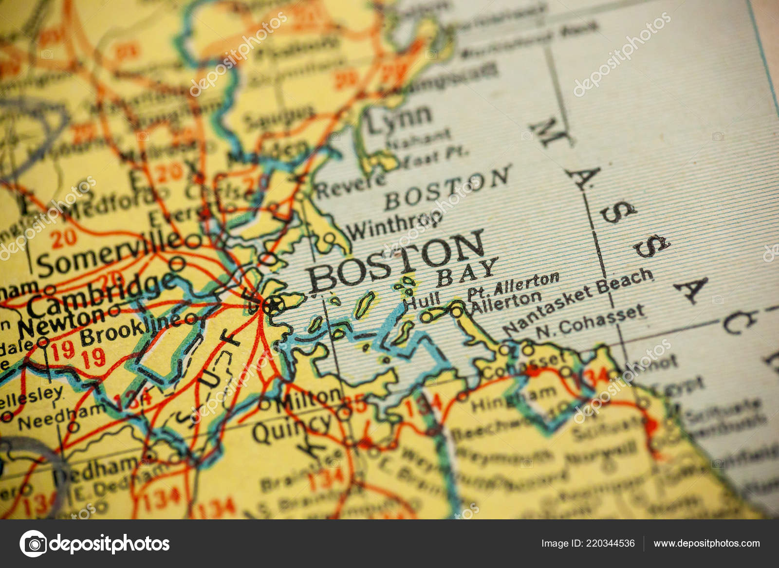 Picture of: Pictures Massachusetts Colony Boston Massachusetts Center Focus Old Map Stock Photo C Luvemak 220344536