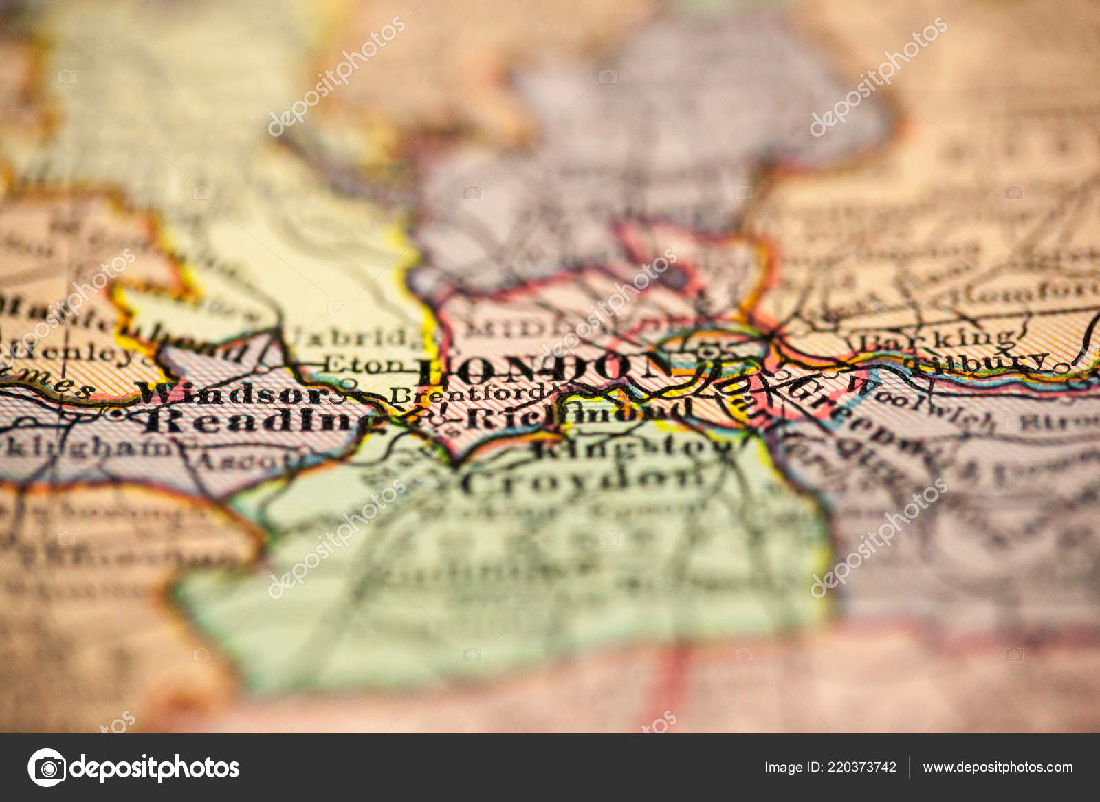 London In England Map.London England Point Focus Vintage Map Stock Photo C Luvemak