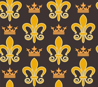 background seamless pattern. Royal retro vintage floral wallpaper pattern for graphic design, vector graphics