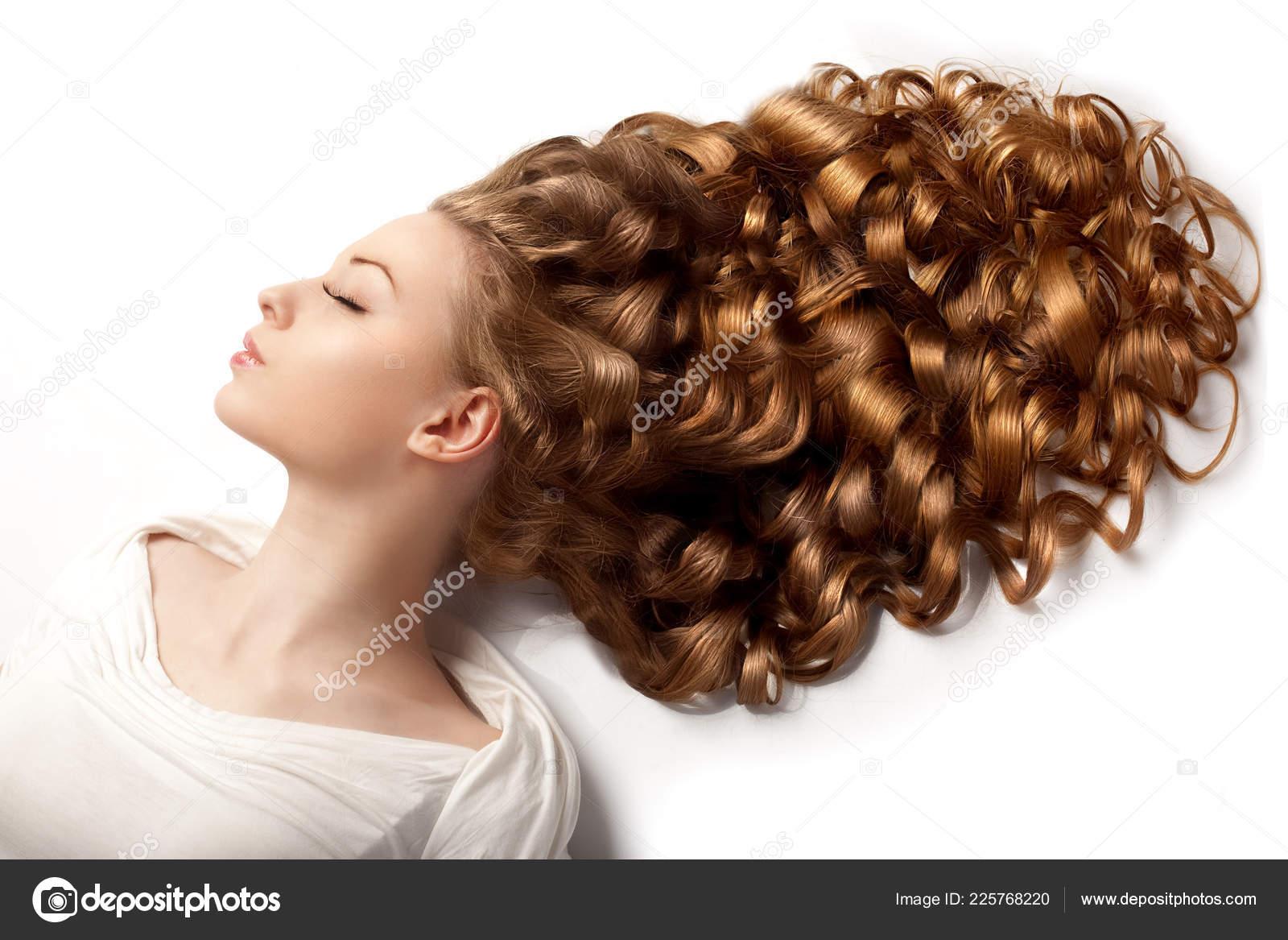 Lange Haare Wellen Locken Hochsteckfrisur Frisur Salon Mode Modell