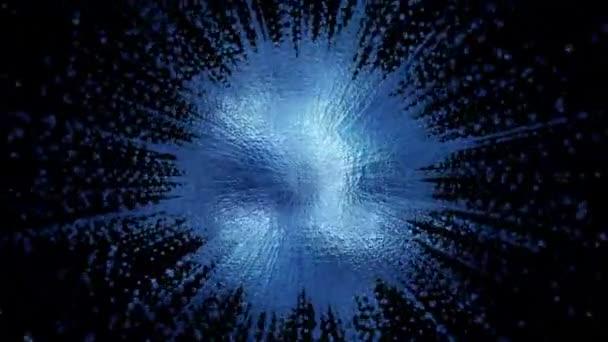 ein diffuser dynamischer, kreativer, abstrakter Fleck, der aus Teilchen zusammengesetzt ist. eine helle Form komplexer Struktur. perfekter animierter Hintergrund für kreative, ungewöhnliche und lebendige Präsentationen. Schleife