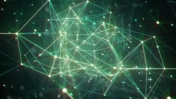 abstrakte Plexusformen. digitaler, kommunikativer und technologischer Hintergrund mit Linien und Punkten. Webkonzept und Anbindung. Schlupflöcher