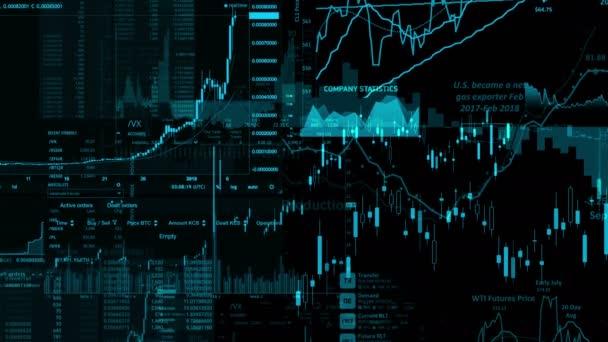 Tőzsdei indexek haladunk a virtuális térben. Gazdasági növekedés, a recesszió. Elektronikus virtuális platform trendek és tőzsdei ingadozások