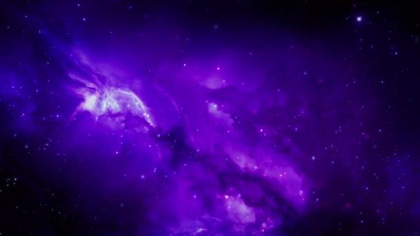 Průlet hvězdné mlhoviny a kosmického prachu, clustery kosmické plynu a souhvězdí v hlubokém vesmíru. Prvky tohoto videa, které Nasa