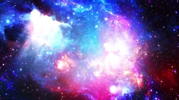 Flying through stellar nebulae and cosmic dust, clusters of cosmic gas and a constellations in deep space. Elements of this video furnished by NASA