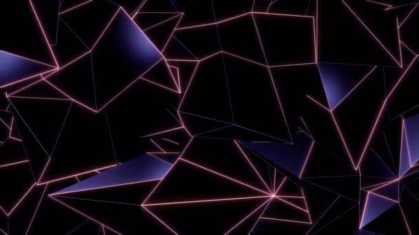 Absztrakt, fényes sokszög háromszögek háttér sok felületek. Ideális minden videó prezentáció vagy a saját grafikai projekt. Lehet kifejező szép hátteret megtörik formák a logót vagy fejlécet. Végtelenített