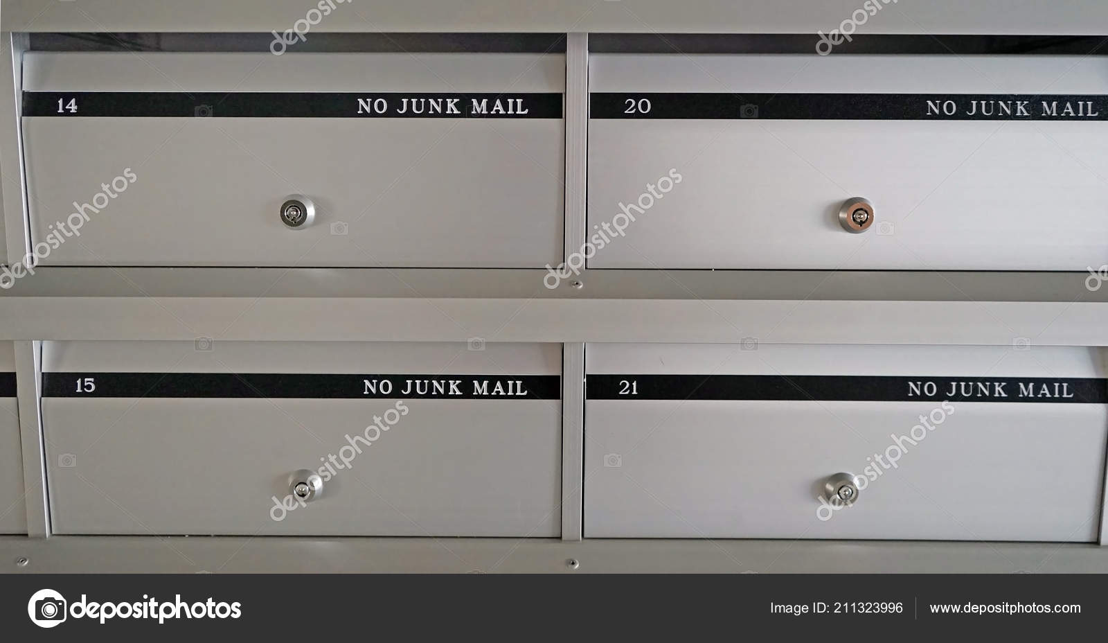 New Metal Mailboxes Apartment Building Flat Numbers — Stock ...