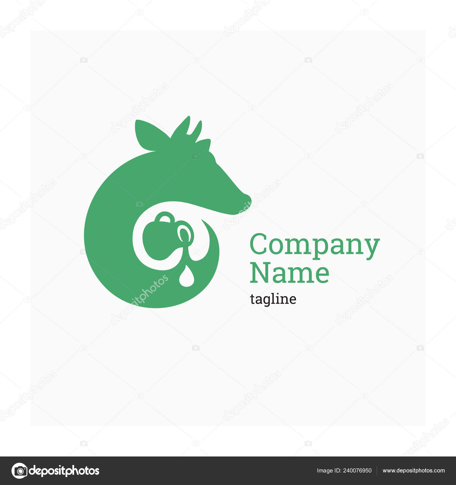 Cow brand logo | Logo Dairy Company Vector Illustration Cow