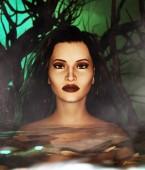 Žena ve vodě, 3d různá média pro knižní ilustrace a obálky knihy