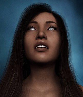 Portrait of Ghost woman,3d illustration
