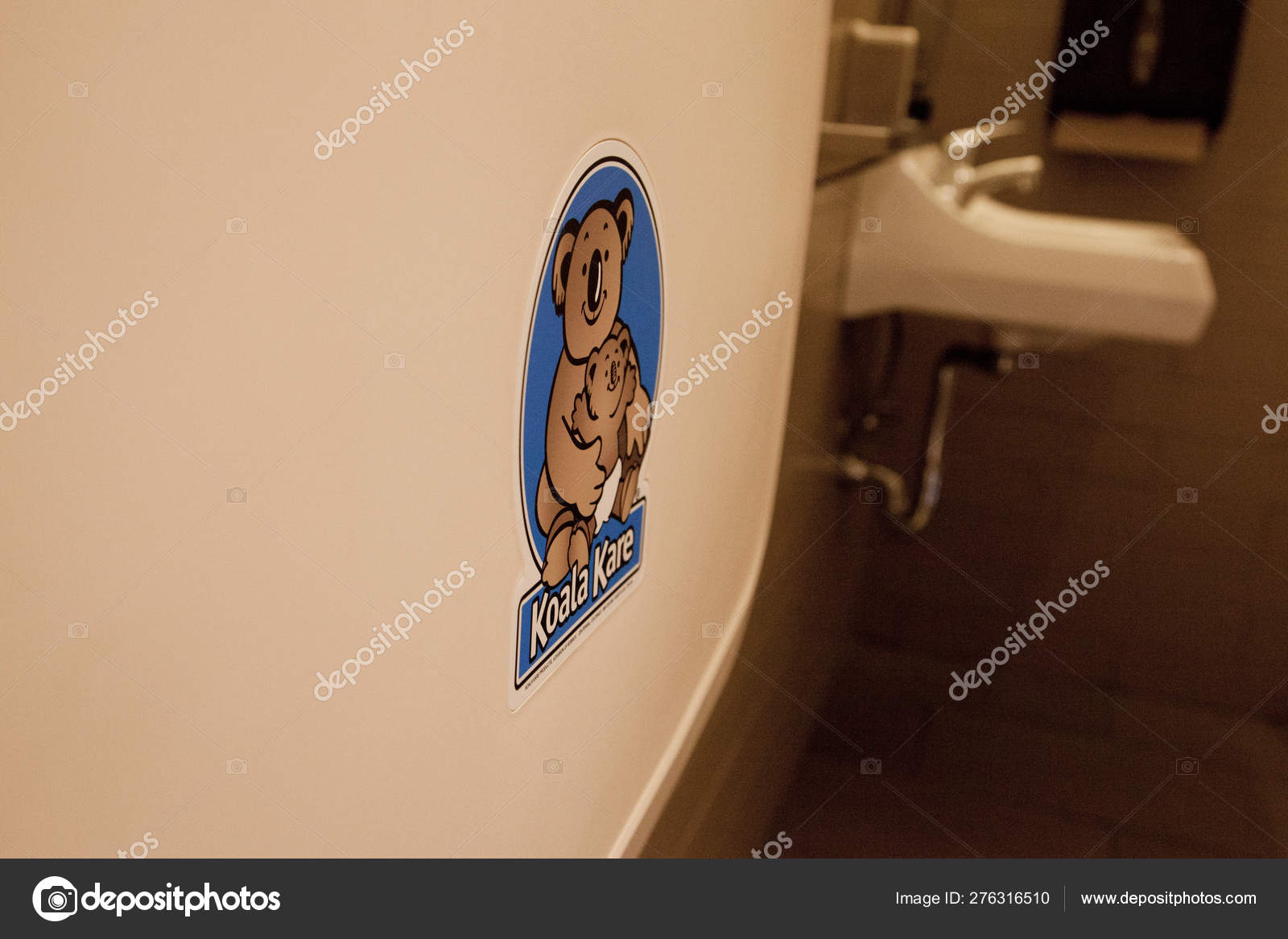 Koala Kare Sign On A Changing Table Stock Editorial Photo C Rustycanuck 276316510