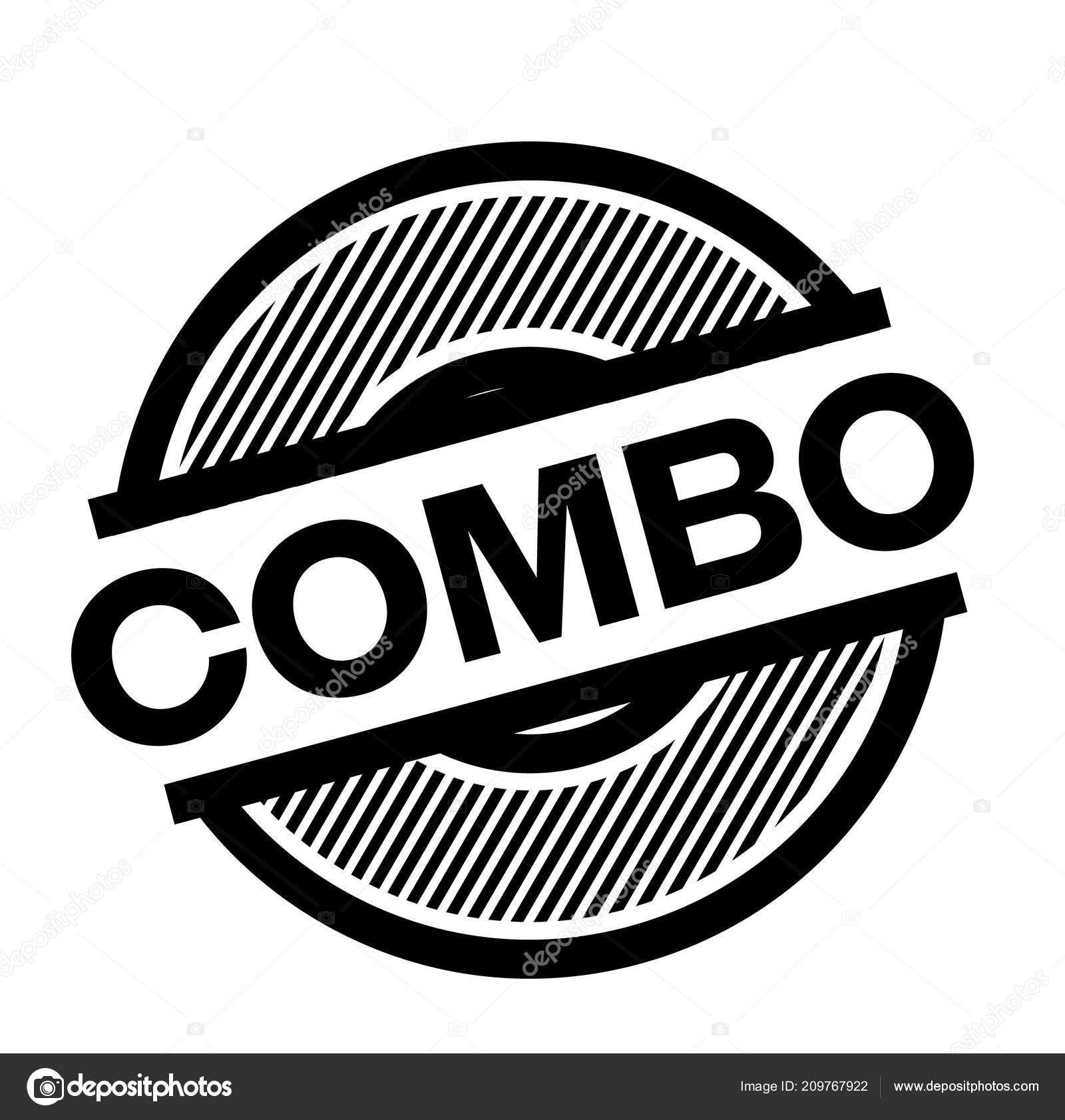 90af0f5cc9a1 selo de combinação preto — Vetores de Stock © lkeskinen0  209767922