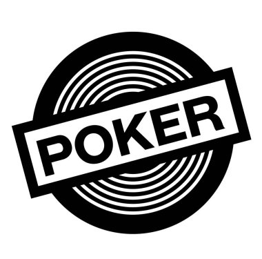 poker black stamp