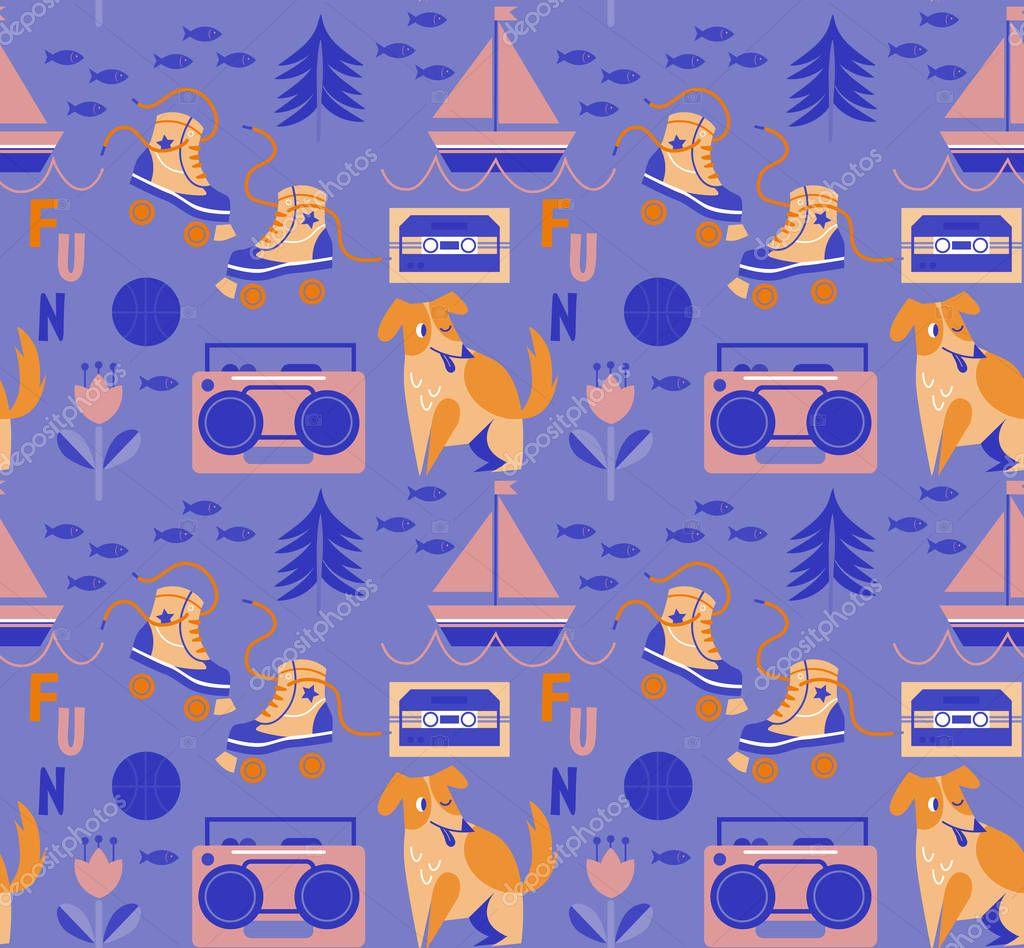 Child pattern seamless cartoon design