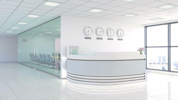 Moderní kancelářský vstup s konferenční místností