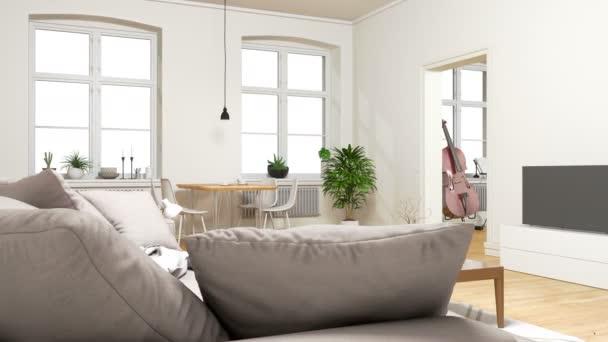 Grande appartamento interno dei video