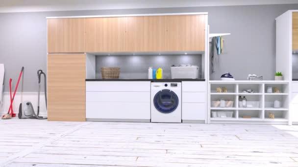 Buanderie Moderne Vidéo — Vidéo duoanimation © #219513776