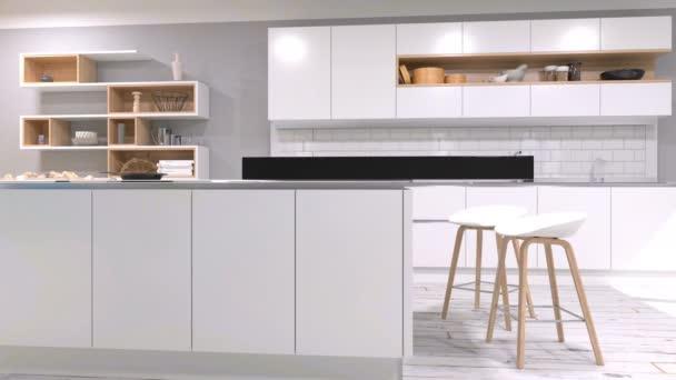 Modern konyha belső videóinak