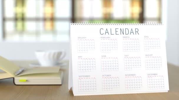 Kalendář na stůl