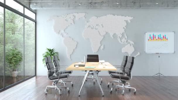 Zasedací místnost v moderní kanceláři