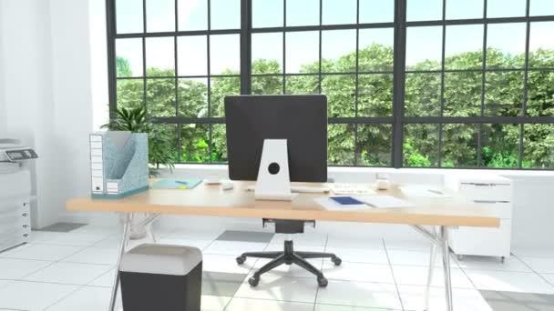 Otevřené moderní obchodní kancelář