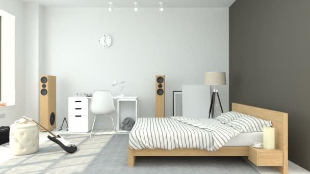 Modern tizenéves szobabelső
