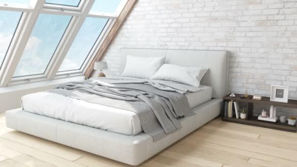 Interiér útulné ložnice