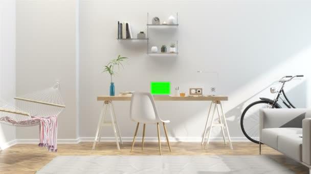 Interiér domu obývací pokoj s jídelnou