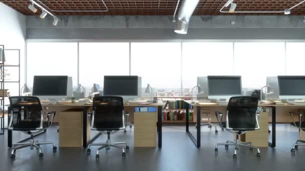 Přední pohled na tvůrčí kancelář
