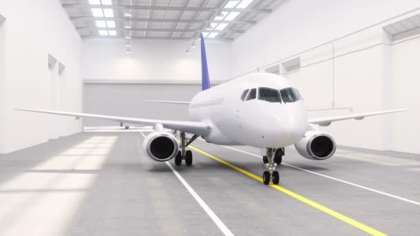 Letadlo v hangáru na letišti