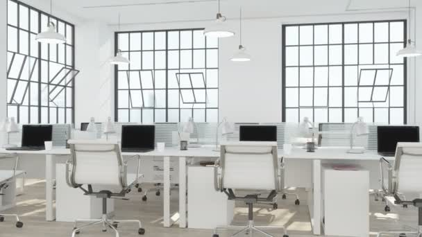 Modern Office Interior with green screen