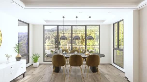 Skandináv stílusú nappali és étkező