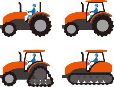 Agricultural tractor and driver