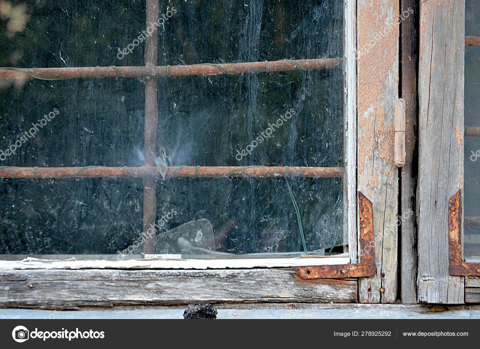 Old Wooden Window Frames Rust Broken Glass Background Stock Photo C Kati 278925292