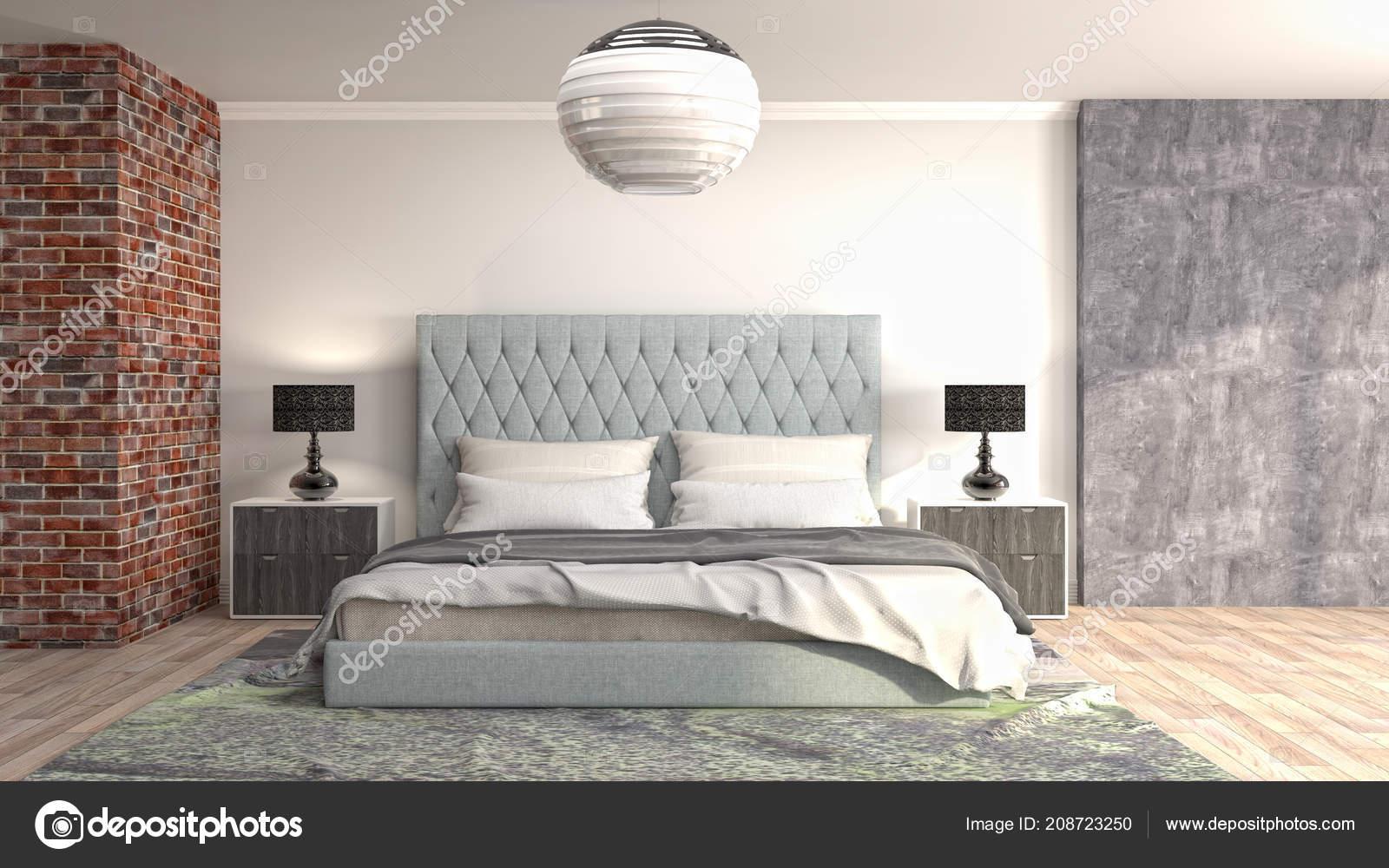 Slaapkamer Interieur Illustratie — Stockfoto © StockerNumber2 #208723250