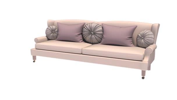 3d illustration sofa on white background