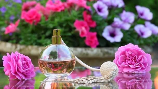 Glas Parfüm Spray Sommer Garten