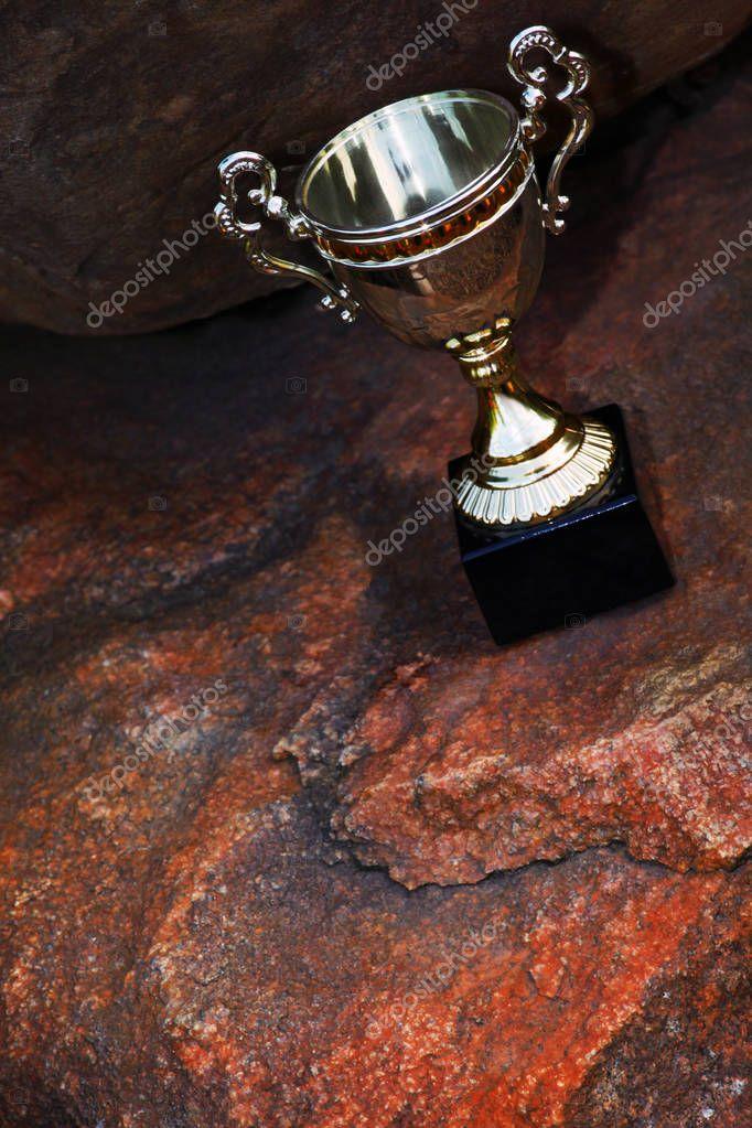 Gold cup natural rock