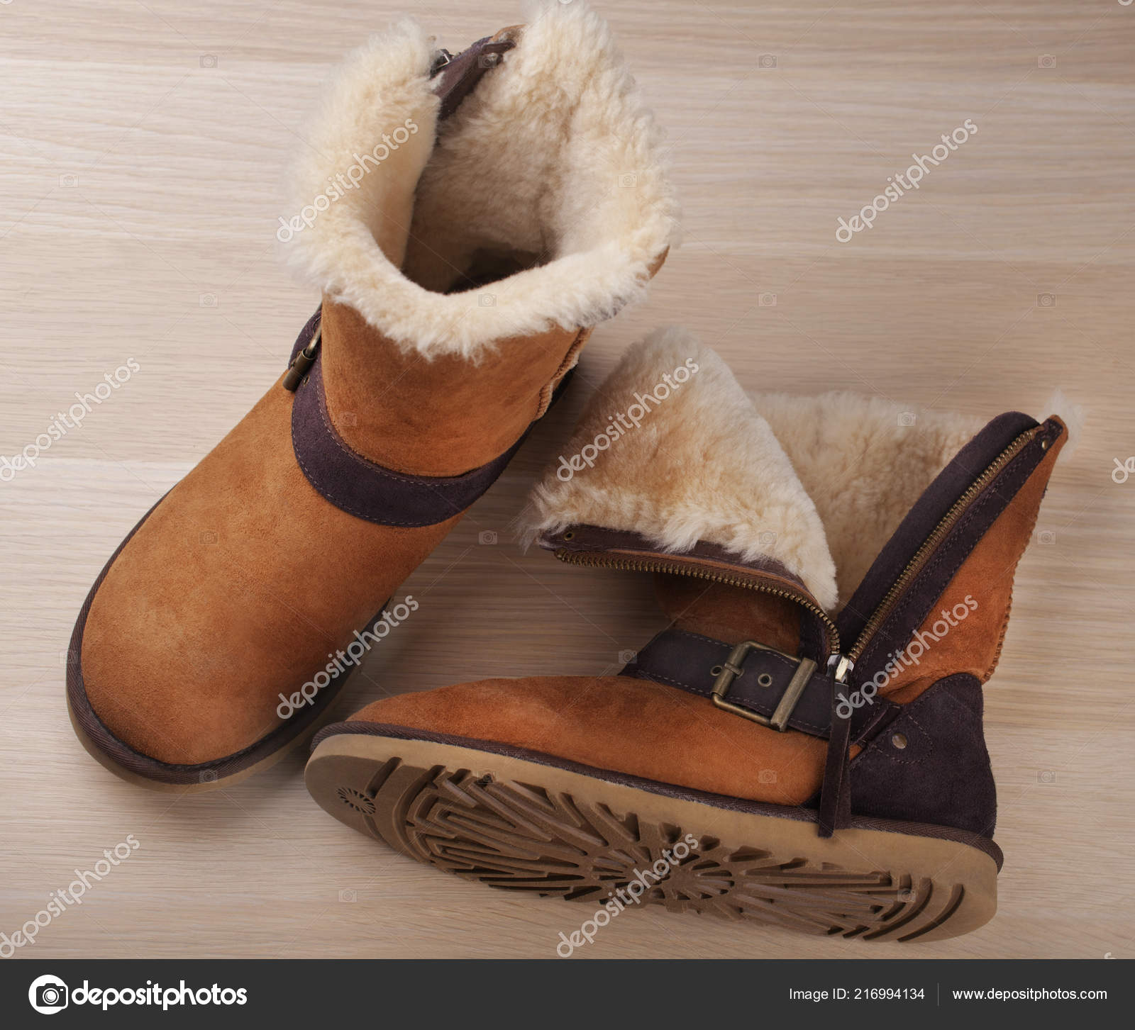 Winter Gele Stockfoto Studio Vrouw — Houten Laarzen Tafel Najaar TFcKJ3l1