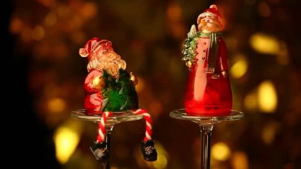 Santa Claus Snow Man sklo hd záběry