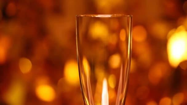 Leeres Champagnerglas