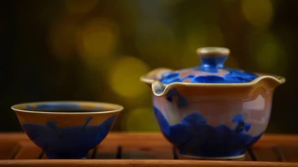 Chinese black tea ceremony hd footage