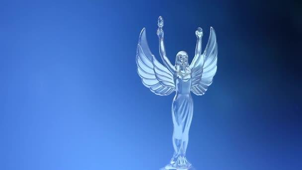 ezüst Angyal figura hó hd felvétel