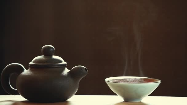 Black Hot Chinese tea cup