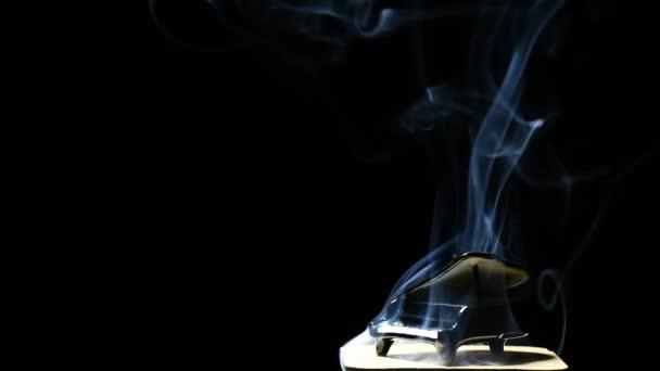 Black piano smoke dark background nobody hd footage