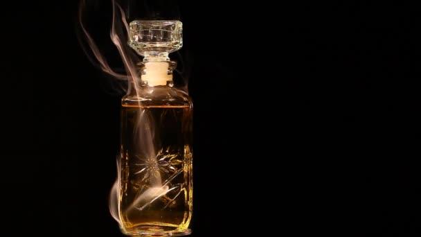 glass perfume smoke dark background nobody hd footage