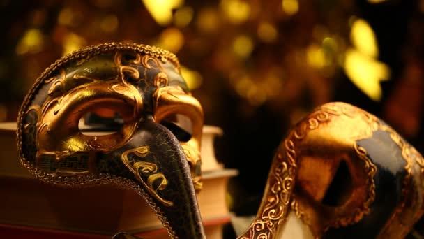 Maske gold bokeh hd footage