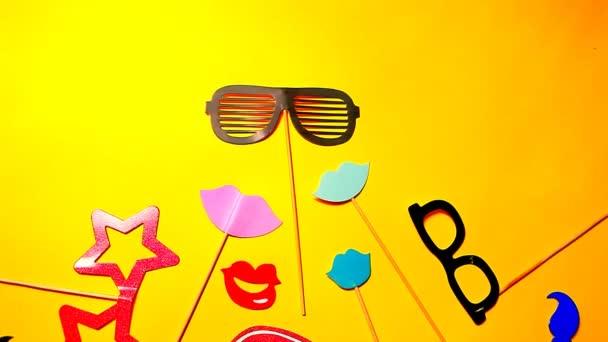 papír Party maszk sárga háttér senki HD felvételeket